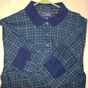 Lands End Large Long Sleeve Polo Shirt